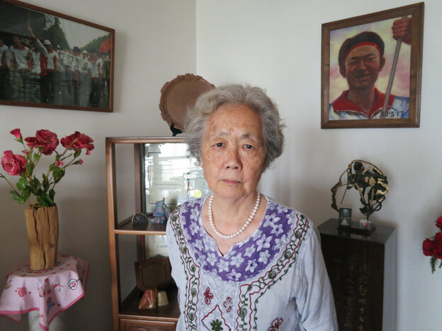 For 24 years, Ding Zilin has sought justice for the death of her 17-year-old son, Jiang Jielian, on June 3, the night before Chinese authorities cracked down on protesters in Beijing's Tiananmen Square. Now, the 76-year-old despairs that she will die before she is allowed to mourn her son on the spot where he was killed. She stands in front of a small shrine to her son in her Beijing home.