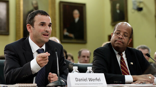 Acting IRS Commissioner Danny Werfel, left, testifies before the House F