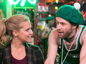 On Inside Amy Schumer,  the comic (here with Jon Glaser and Adrian Martinez) deplo