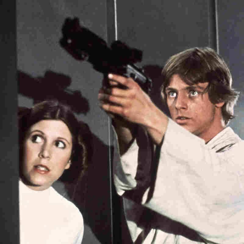 Star Wars has been translated into many languages — most recently, Navajo. Above, Princess Leia (Carrie Fisher) and Luke Skywalker (Mark Hamill) in a scene from the 1977 classic.