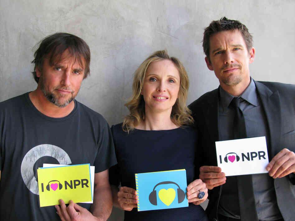 Richard Linklater, Julie Delpy and Ethan Hawke at NPR West.