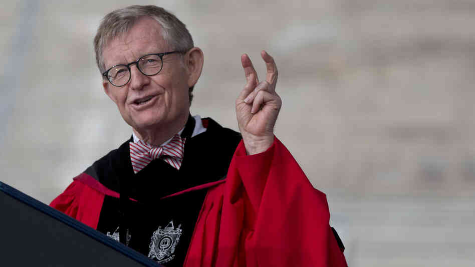 Ohio State president Gordon Gee, seen here at last month's spring commencement, has announced his retirement. Gee came under fire for his remarks on Catholics, ot