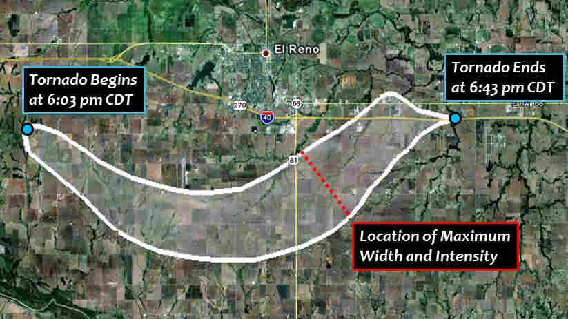 Data released Tuesday shows that the deadly El Reno tornado that struck Friday was the widest every recorded in the U.S., at 2.6 miles.