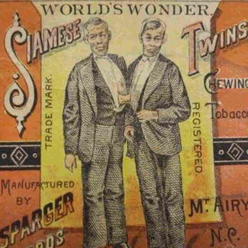 A picture of the Bunker brothers appears on a tobacco label.