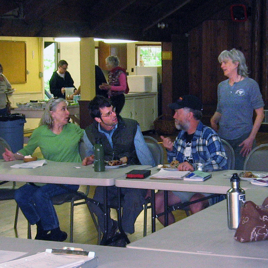 The Marys River Grange holds monthly potlucks before each meeting. At the May gathering about a dozen people showed up.