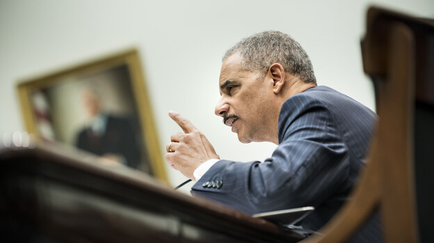 Attorney General Eric Holder testifies on May 15 before the House Judiciary Committee. (AFP/Getty Images)
