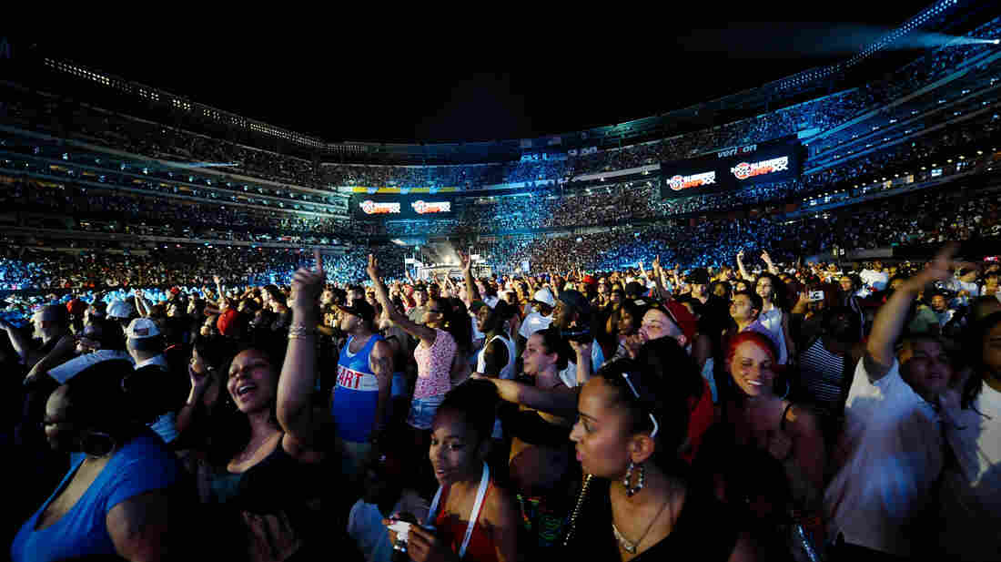 The audience at Hot 97's Summer Jam on Sunday.