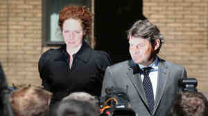 Rebekah Brooks, left, the former Chief Executive of News International, and her husband Charlie Brooks le