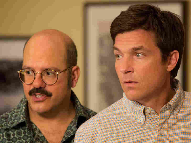 David Cross (left) reprises his role as Dr. Tobias Funke, the sexually ambiguous brother-in-law of Jason Bateman's character, Michael Bluth, in Netflix's new season of Arrested Development.