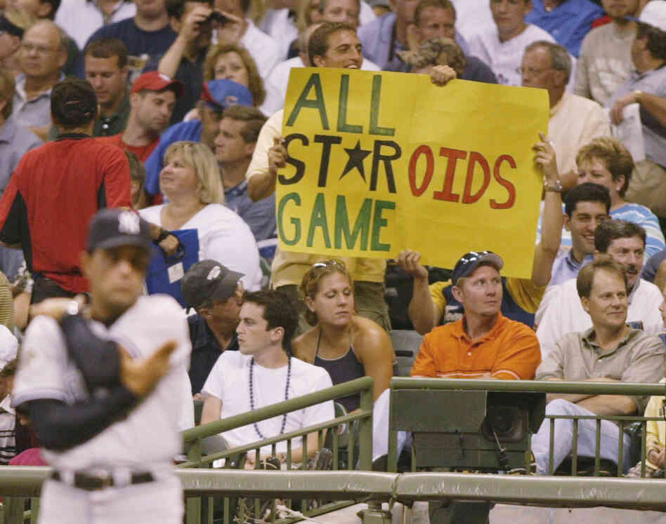 A fan raises his objections at the 2002 Ma