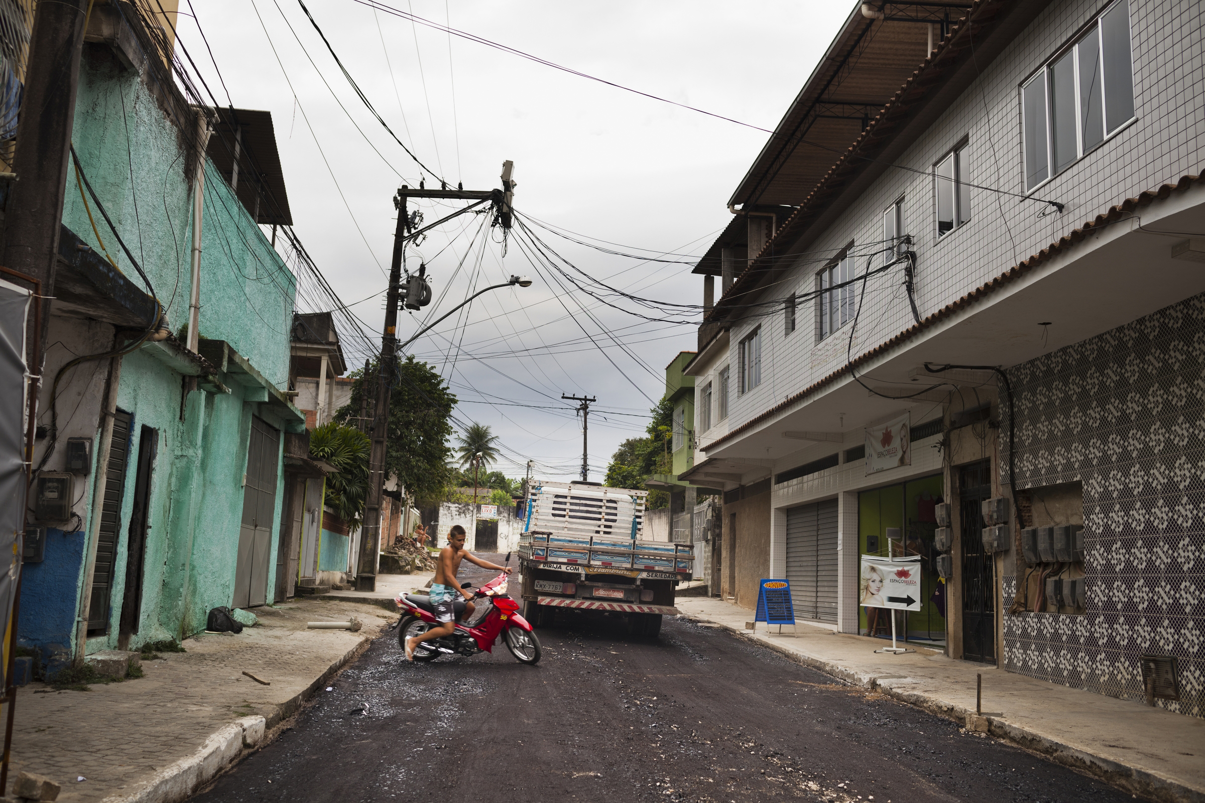"Residents of the town of Mage, about 35 miles outside Rio, now refer to one street as the ""Gaza Strip"" because of the increasing violence. The town used to be relatively quiet, but drug gangs from Rio have been moving in."