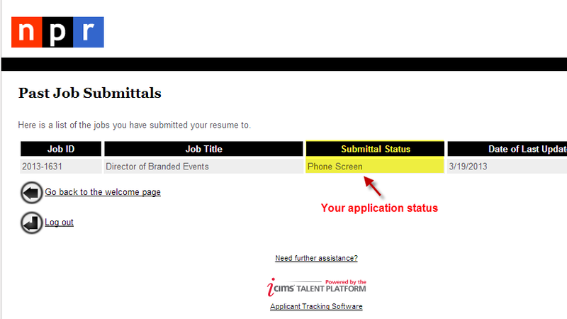 Review your application status, any time.