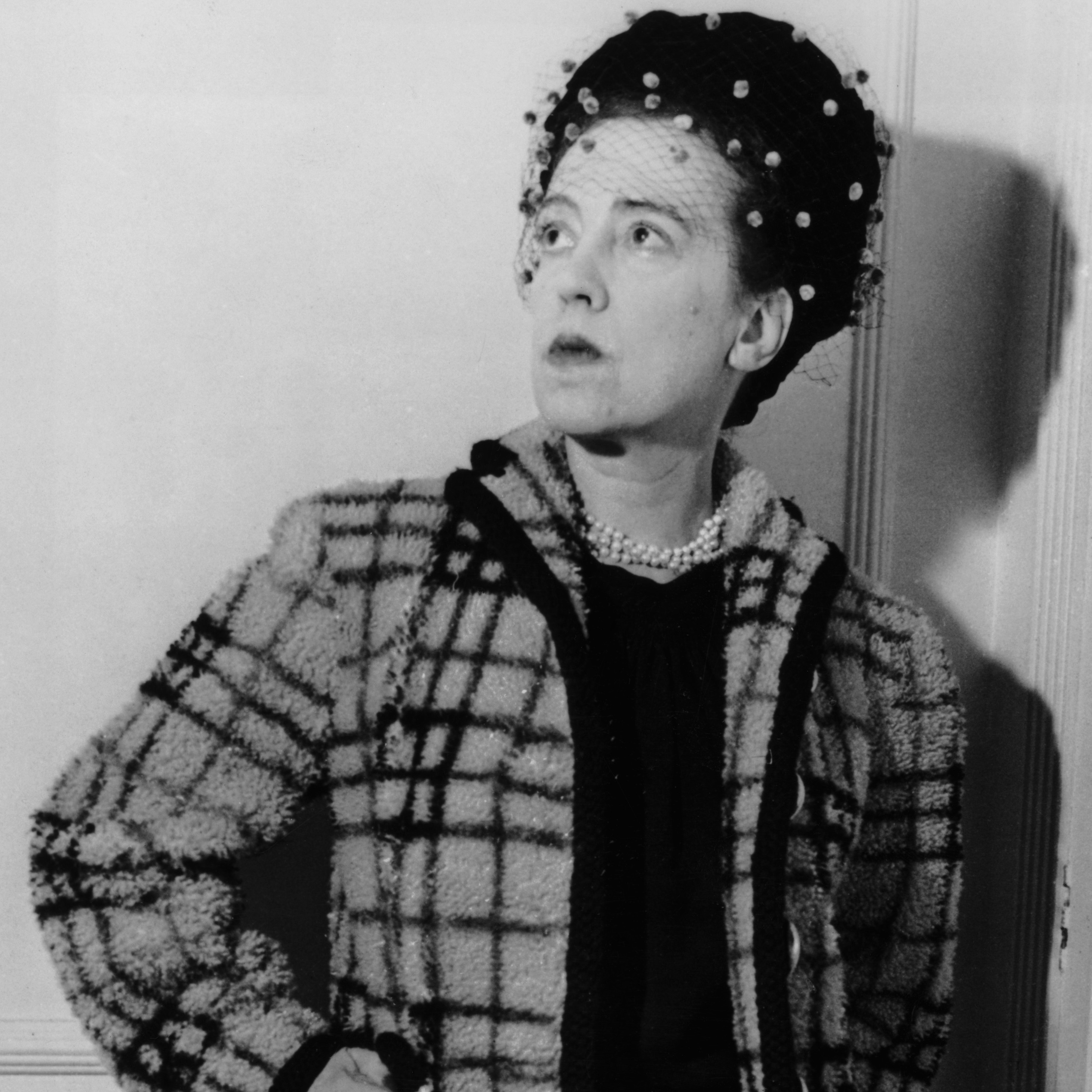Elsa Luisa Maria Schiaparelli, seen here in 1947, became a fashion star in the 1930s.