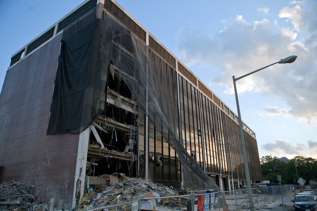 NPR's Uri Berliner discovers that among his REIT holdings is one that owns the Washington, D.C., site where, until recently, NPR had its headquarters. The building is being torn down and a new building with law offices will go up in its p