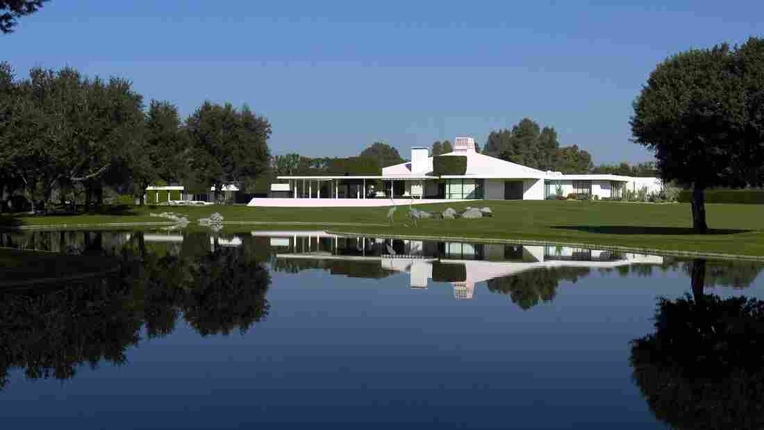 A view of the house from across one of the lakes on the golf course at Sunnylands, the Annenberg retreat in Rancho Mirage, Calif. President Obama and Chinese President Xi Jinping will meet at Sunnylands on Friday and Saturday.
