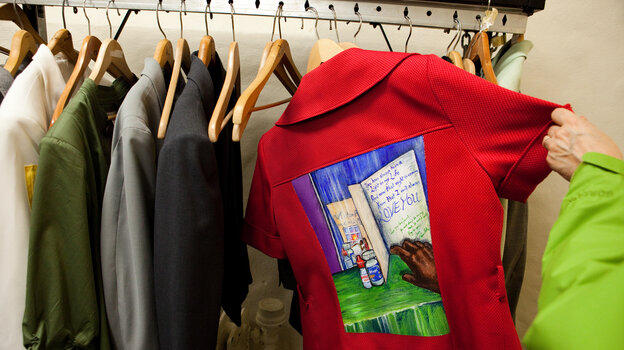 More than 200 people have Walking Gallery jackets that tell the story of their experiences with health and the medical system.