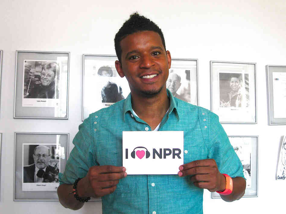 Chef Roblé at NPR's New York Bureau.
