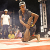 Wellington Costa, 19, performs at the semifinals of a passinho competition in Rio de Janeiro on April 23. Passinho is a liberated dance form born in Rio's favelas, or shanty towns.