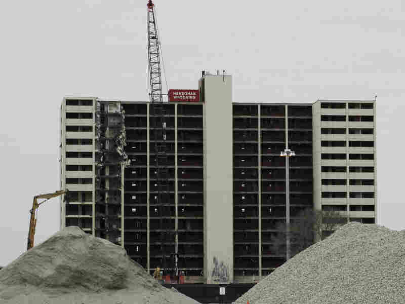 The last high rise at Chicago's Cabrini-Green public housing complex was demolished in 2011.