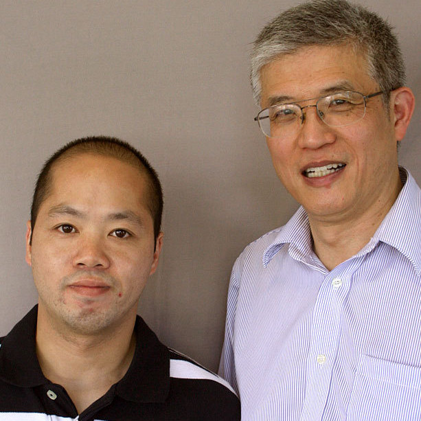 Shengqiao Chen, left, met Zehao Zhou while in prison waiting for asylum. Zhou was his translator.
