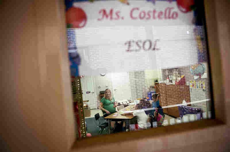 Costello teaches English as a second language to children in a suburban Washington school district.