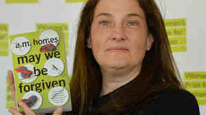 A.M. Homes, author of May We Be Forgiven, poses prior to Wednesday's awards ceremony for the Women's Prize For Fiction at the Royal Festival Hall in London.