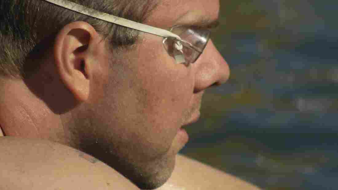 """Goody Tyler, a schoolteacher, earned the """"ice man"""" label for swimming a mile in 41-degree water in the Great Salt Lake. He credits that swim and workouts in the lake for helping him withstand the tedium of chemotherapy while being treated for cancer."""