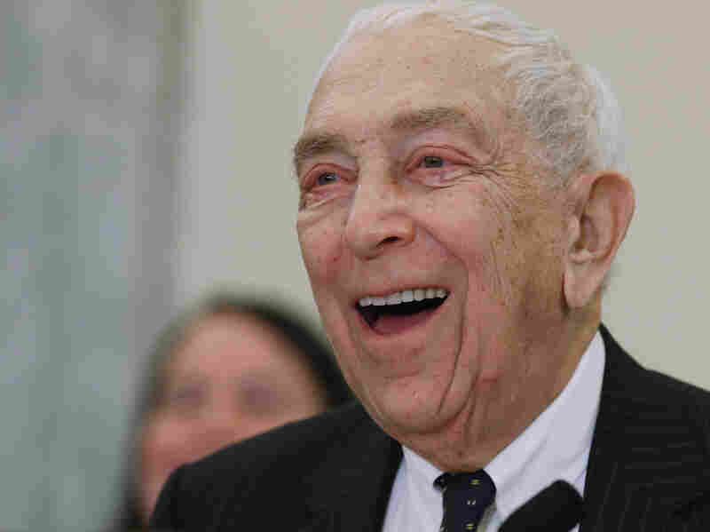 Sen. Frank Lautenberg (D-NJ) at a congressional hearing last year. He died on June 3.