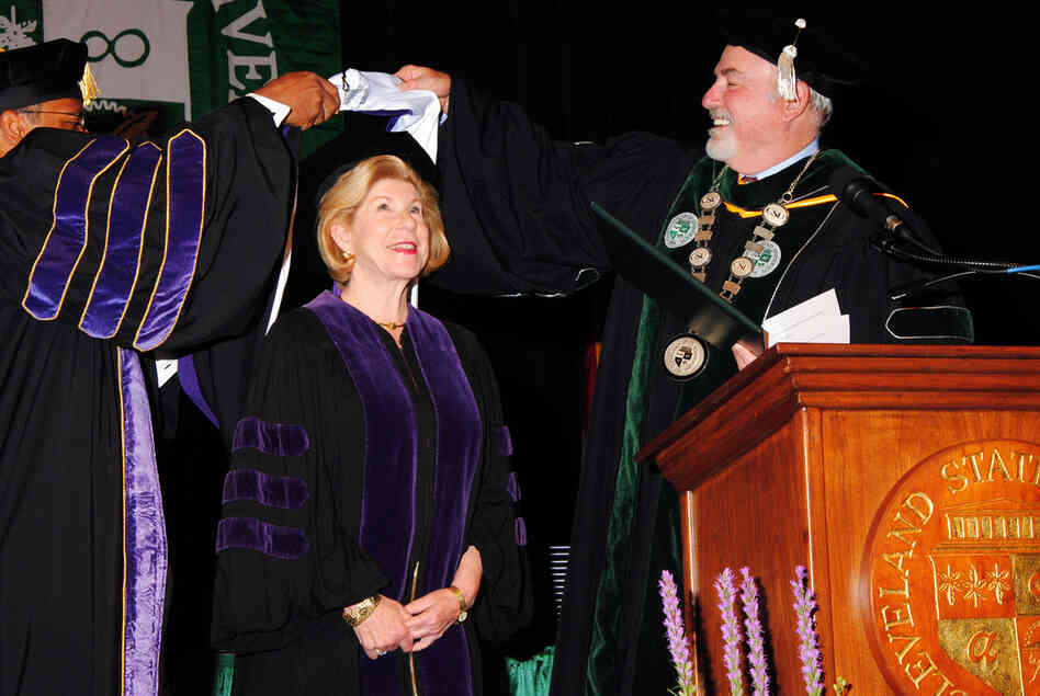 Nina Totenberg addressed the Albany Law School and the Cleveland-Marshall College of Law at Cleveland State University; she was awarded Honorary Degrees from both schools.