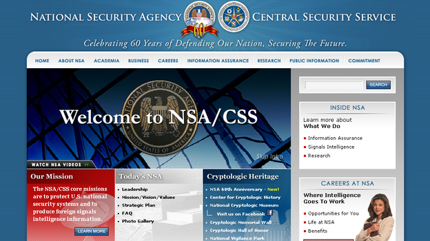 The National Security Agency has been plucking data from central servers of large U.S. Internet firms, according to reports, and mining the data for possible security threats. (NSA)