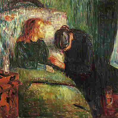 Edvard Munch's The Sick Child depicts the moments before his sister died of tuberculosis in 1896.