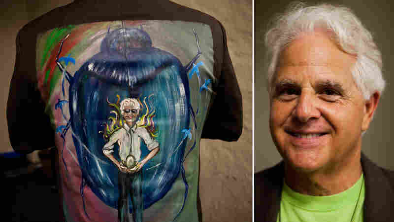 """Meet Gregg Masters, and you see the energetic, upbeat CEO of a health care social media firm. Regina Holliday painted something else: His long struggle with depression, with the scarab beetle clearing away the pain of the past, and the egg symbolizing rebirth. """"I had goosebumps when I saw it,"""" Masters says. """"She saw that in me. I didn't talk with her about depression."""""""