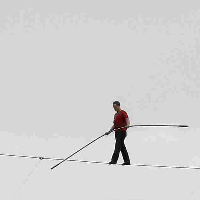 High-Wire Artist Nik Wallenda Plays A Game Called 'Whoops'