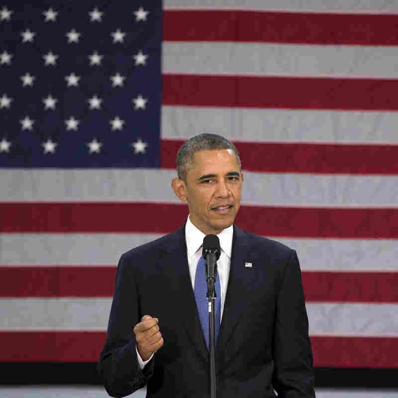 President Obama speaks at Mooresville Middle School in Mooresville, N.C., on Thursday.