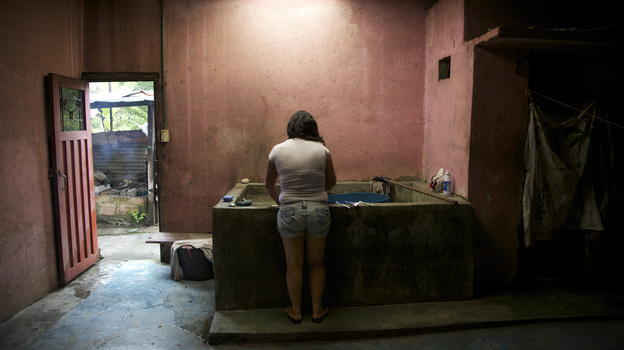 Isabel Narvaez, in El Placer, says she is still traumatized by the rape she suffered. The small hamlet in Colombia is just one place where women were victims of violent crimes during the civil conflict. (Paul Smith for NPR)