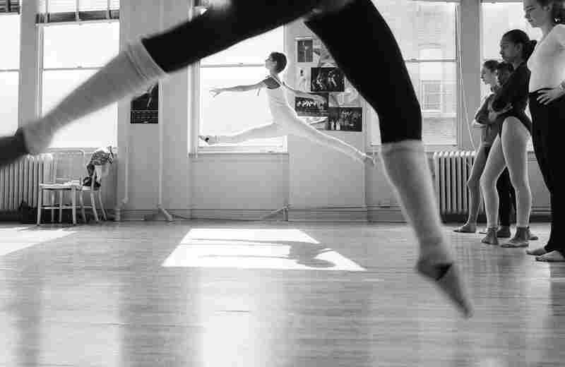 Ballerinas at practice