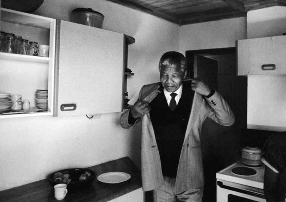 Nelson Mandela in his South Africa home for the first time after 27 years in