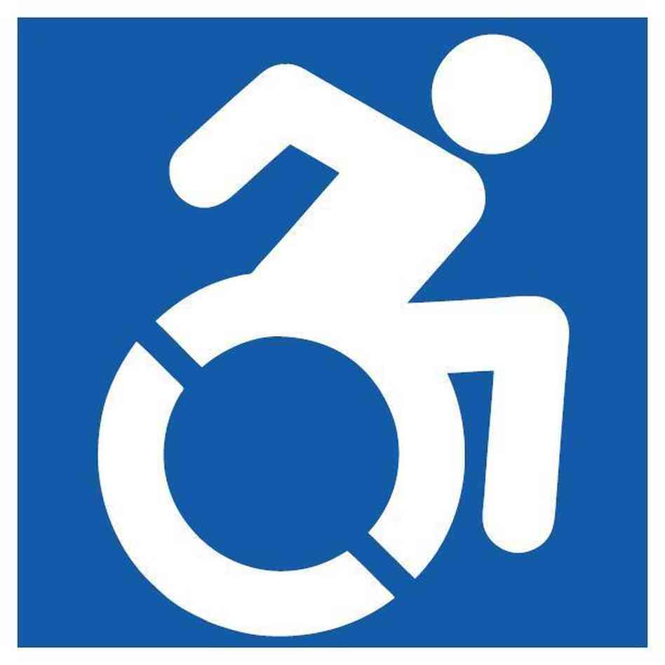 New handicapped sign heads to nyc npr Handicapped wheelchair