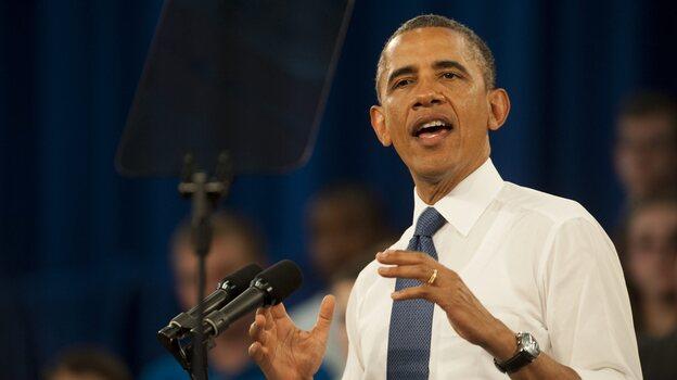 President Obama on Thursday in Mooresville, N.C. (EPA /LANDOV)