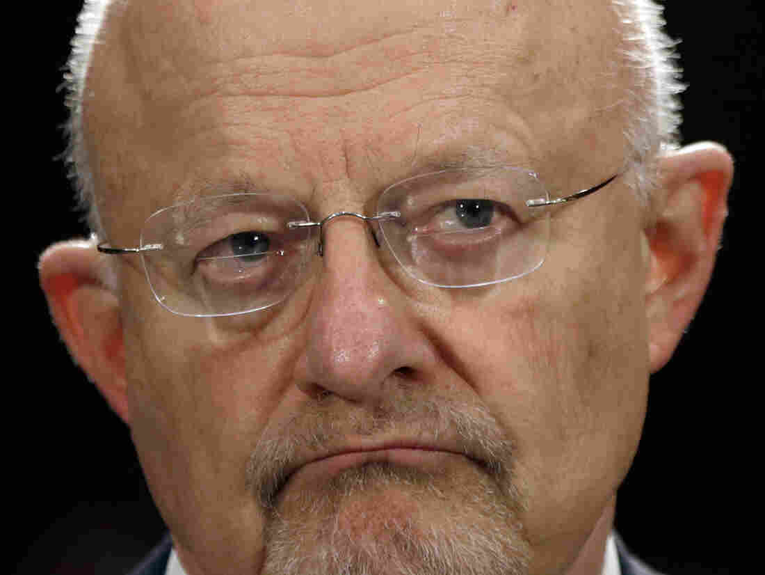 Director of National Intelligence James Clapper testifying before the Senate Armed Services Committee in April.