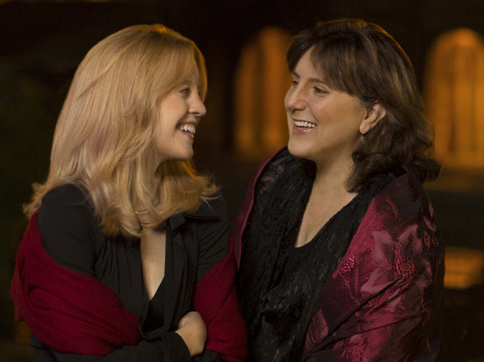 Jazz composer Maria Schneider (left) and soprano Dawn Upshaw