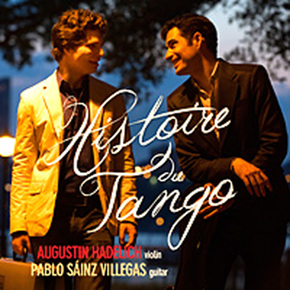 Augustin Hadelich's new album features guitarist Pablo Sainz Villegas. (Avie Records)