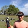 Pablo Lema shows off his quadcopter.