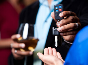 Has the person taking the car keys been drinking, too?