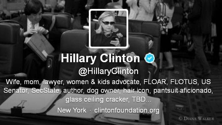 with nod to texts from hillary guys clinton joins twitter the