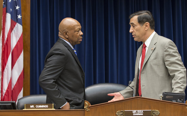 It would be a vast understatement to say that Republican Rep. Darrell Issa (right) of California and Democratic Rep. Elijah Cummings of Maryland don't see eye to eye on the IRS scandal's latest development.