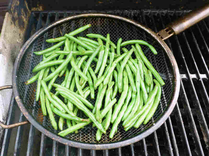 Grilled Green Beans with Fresh Horseradish