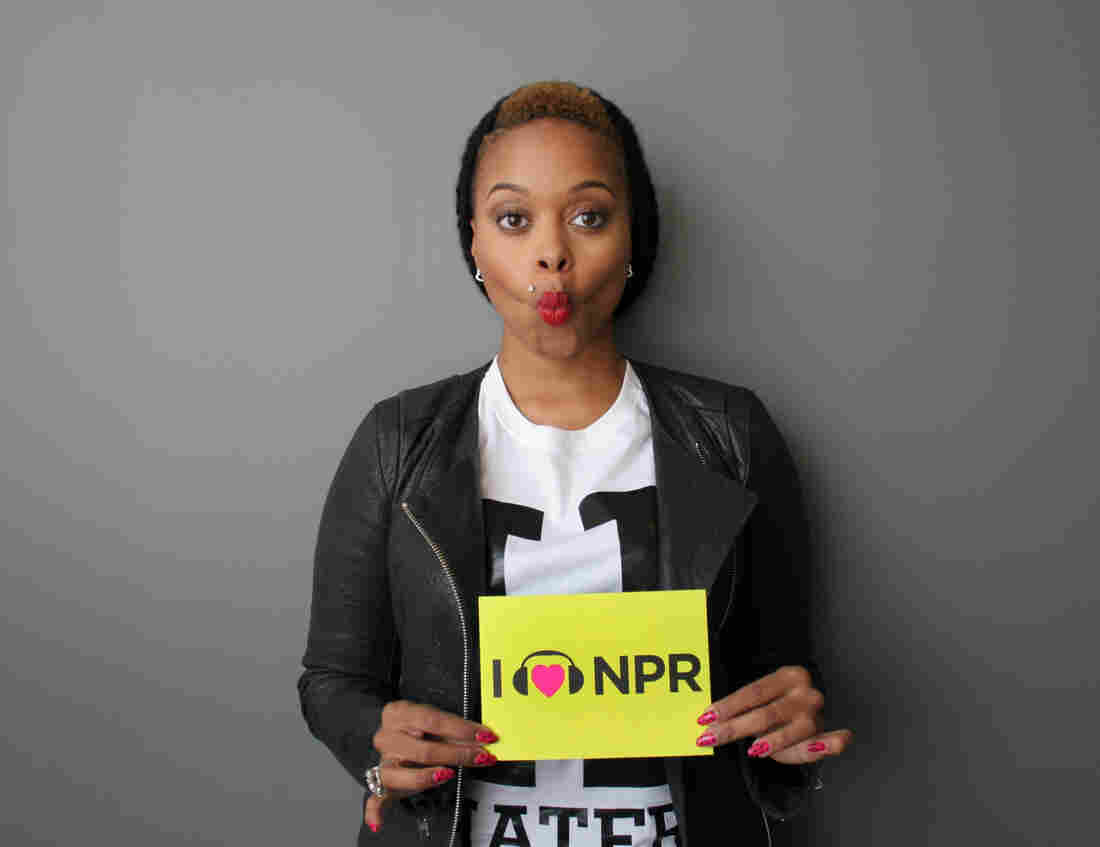 Chrisette Michele at NPR headquarters in Washington, D.C.