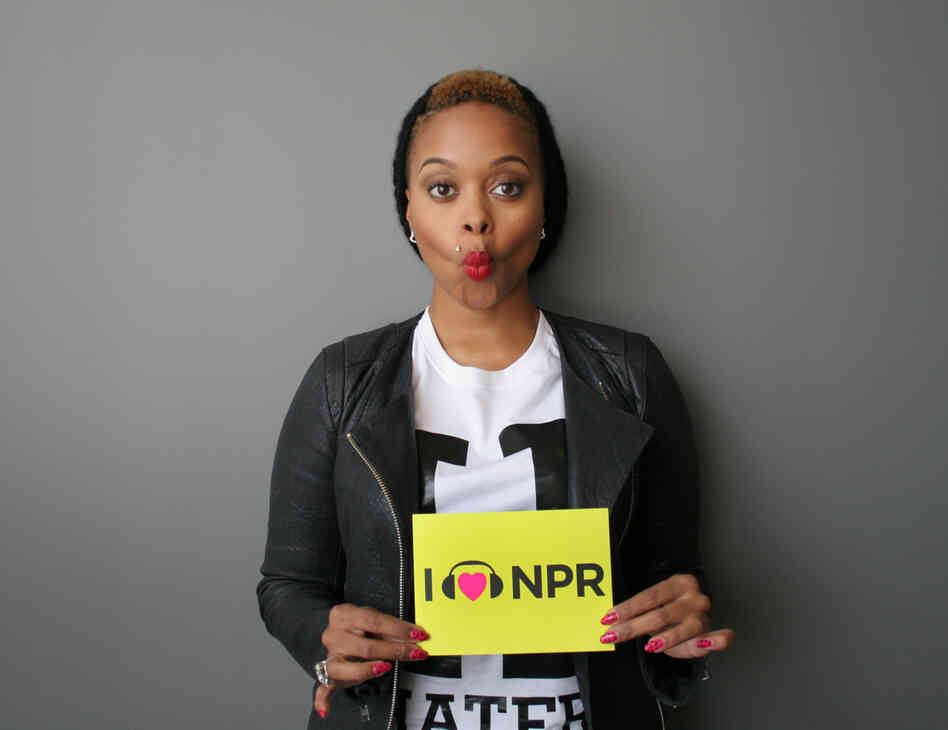 Chrisette Michele at NPR headquarters in