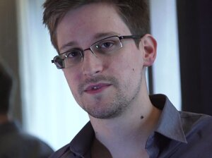 """In a video interview with The Guardian, Edward Snowden says he exposed NSA monitoring because """"the public needs to decide whether these programs and policies are right or wrong."""""""
